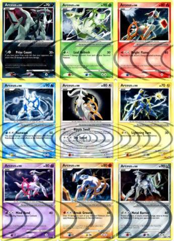Arceus LV.100 - AR1 - AR9 - Complete Set