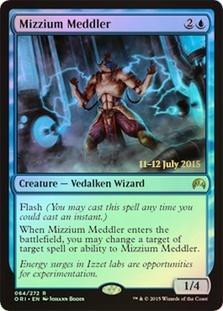 Mizzium Meddler - Foil - Prerelease Promo