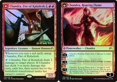 Chandra, Fire of Kaladesh // Chandra, Roaring Flame - Magic Origins Prerelease Promo