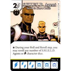 S.H.I.E.L.D. Agent - Need to Know Basis (Die & Card Combo)