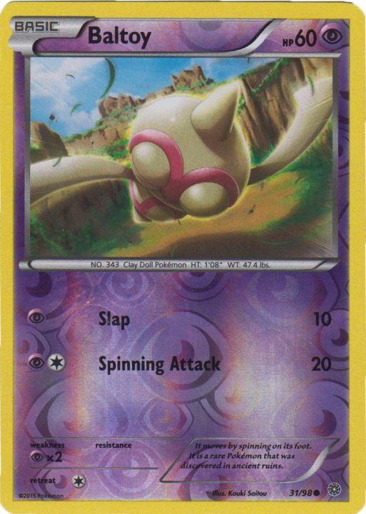 Claydol 33//98 Ancient Origins Reverse Holo Mint Pokemon Card