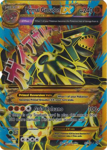 Primal Groudon-EX - 97/98 - Full Art Ultra Rare