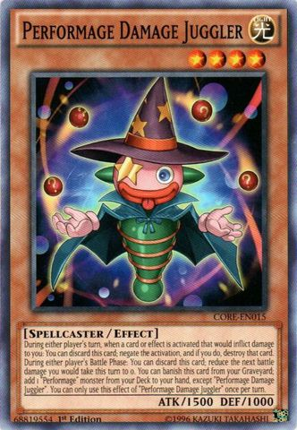 Performage Damage Juggler - CORE-EN015 - Common - 1st Edition