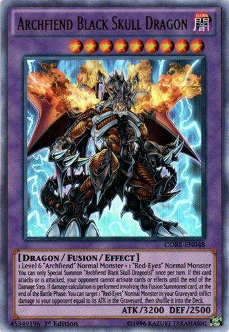 Archfiend Black Skull Dragon - CORE-EN048 - Ultra Rare - 1st Edition
