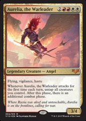 Aurelia, the Warleader - Foil on Channel Fireball