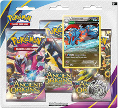 Pokemon XY7 Ancient Origins 3-Booster Blister Pack - Salamence Promo