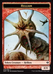Hellion Token on Channel Fireball