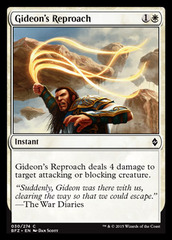 Gideon's Reproach on Channel Fireball