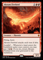 Akoum Firebird - Foil on Channel Fireball
