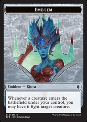 Kiora, Master of the Depths Emblem Token (14)