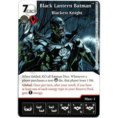 Black Lantern Batman - Blackest Knight (Die & Card Combo)