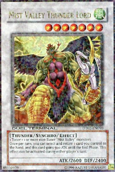 Mist Valley Thunder Lord - DT02-EN090 - Duel Terminal Ultra Parallel Rare - 1st Edition