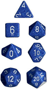 Speckled 7 Dice set (CHX25306) - Water