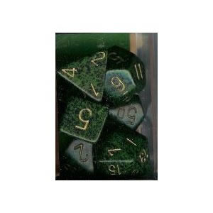 Golden Recon Speckled Polyhedral Dice Set of 7 - CHX25335