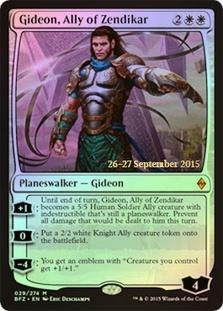 Gideon, Ally of Zendikar - Foil - Prerelease Promo