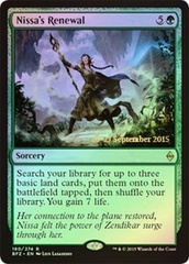 Nissa's Renewal (Battle for Zendikar Prerelease Foil)
