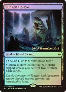 Sunken Hollow - Battle for Zendikar Prerelease Promo