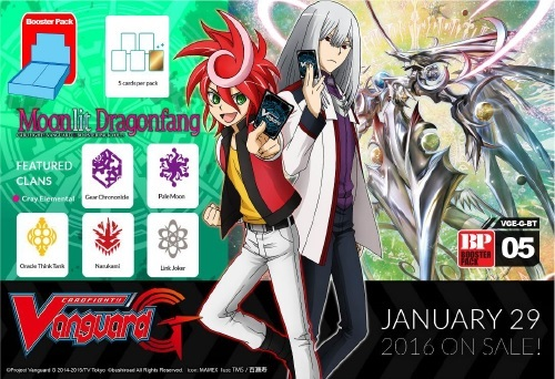 Cardfight!! Vanguard VGE-G-BT05 Moonlit Dragonfang Booster Pack
