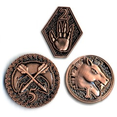 GameMastery Campaign Coins: Copper (1, 2, 5)