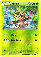 Chespin - 8/162 - Common - Reverse Holo on Channel Fireball