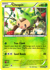 Chespin - 9/162 - Common - Reverse Holo on Channel Fireball