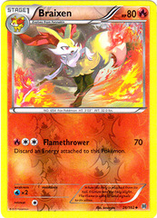 Braixen - 26/162 - Uncommon - Reverse Holo on Channel Fireball