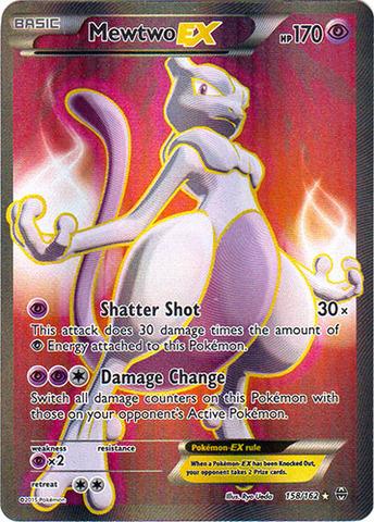 Mewtwo-EX - 158/162 - Full Art Ultra Rare