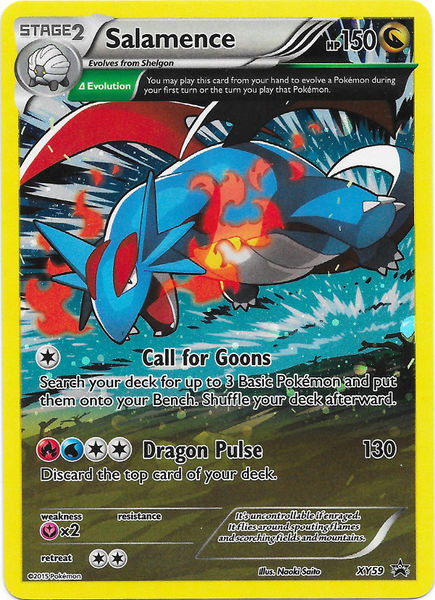 Salamence XY59 Cosmos Holo Promo - Ancient Origins Blister Exclusive