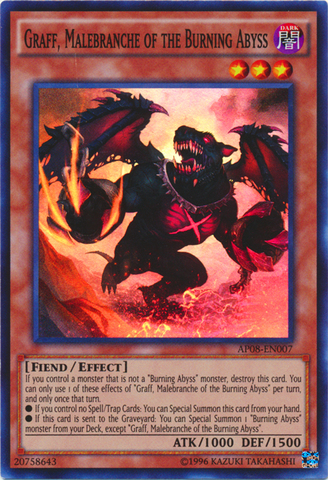 Graff, Malebranche of the Burning Abyss - AP08-EN007 - Super Rare - Unlimited Edition
