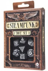 Black-White Steampunk dice set (7)