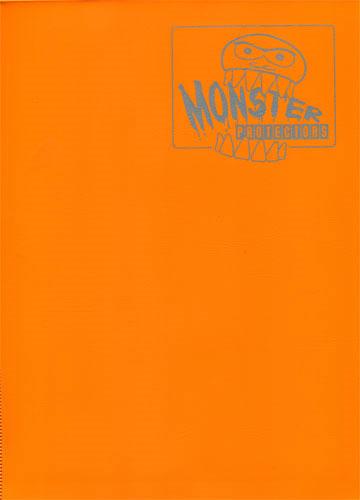 Monster Protectors 9 Pocket Matte Orange Binder