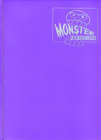 Monster Protectors 9 Pocket Matte Purple Binder