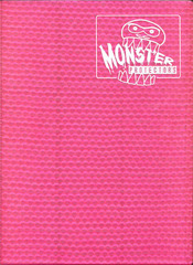 Monster Protectors 9 Pocket Holo Pink Binder