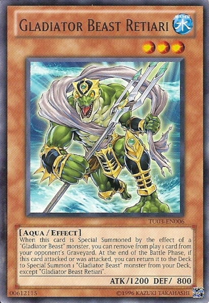 Gladiator Beast Retiari - TU03-EN006 - Rare - Unlimited Edition