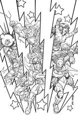 Justice League #48 (New 52) (Adult Coloring Book Variant)
