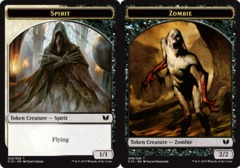 Zombie // Spirit (Multicolor) Double-Sided Token