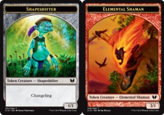 Elemental Shaman // Shapeshifter Double-Sided Token