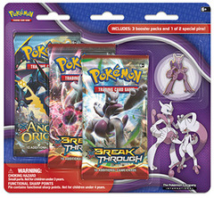Pokemon XY8 BREAKthrough 3-Booster Blister Pack - Mega Mewtwo X Pin