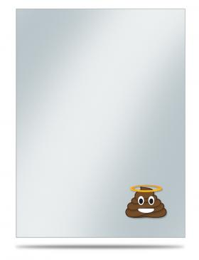 Printed Deck Protector Sleeve Covers - Emoji Holy #&$! (50 ct)