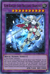 Gem-Knight Lady Brilliant Diamond - CORE-EN047 - Ultra Rare - Unlimited Edition
