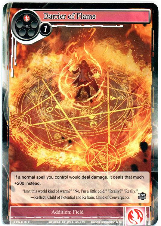 Barrier of Flame - TTW-019 - R - 1st Edition (Foil)