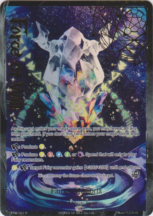 Fairy's Memoria - TTW-101 - R - 1st Edition - Full Art