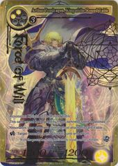 Arthur Pendragon, King of the Round Table - TTW-003 - SR - 1st Edition - Full Art on Channel Fireball