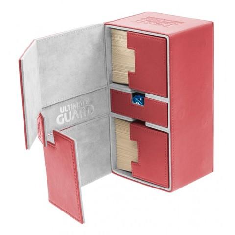 Ultimate Guard Flip Deck Case TWIN FLIP'n'TRAY Xenoskin 200+ - Red