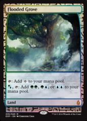 Flooded Grove - Foil (Zendikar Expedition: Oath of the Gatewatch Lands)
