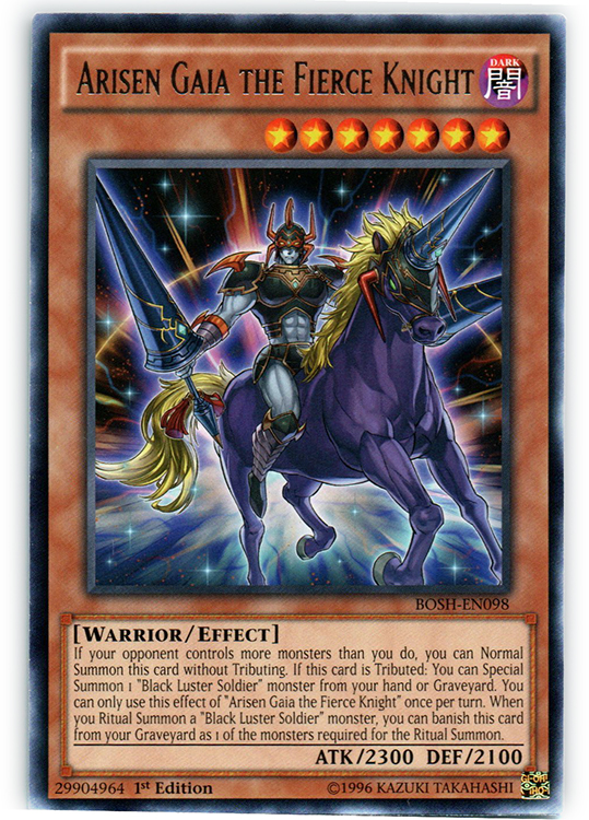 Arisen Gaia the Fierce Knight - BOSH-EN098 - Rare - 1st Edition