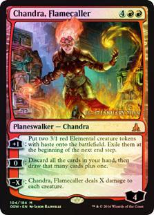 Chandra, Flamecaller - Foil - Prerelease Promo