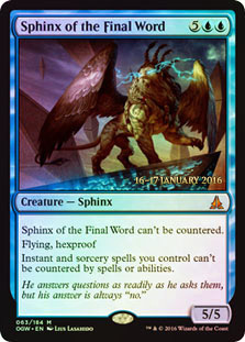 Sphinx of the Final Word - Oath of the Gatewatch  Prerelease Promo