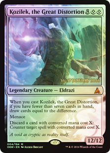 Kozilek, the Great Distortion - Oath of the Gatewatch  Prerelease Promo