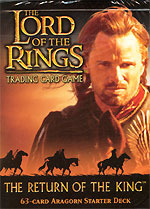 Lord of the Rings Cards Return of the King Aragorn Starter Deck